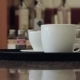 Girls Hands Take a Tray of Coffee - VideoHive Item for Sale