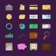 Money Finance Banking Icon Set Flat - GraphicRiver Item for Sale