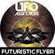UFO Abstract Futuristic Flyer Design - GraphicRiver Item for Sale