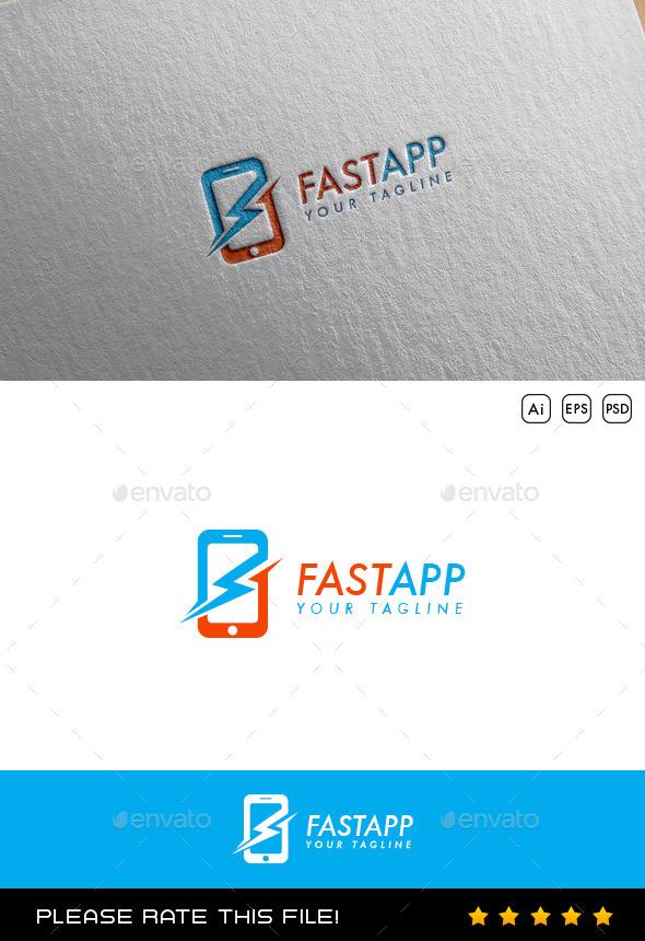 Mobile Logo - Vector Abstract