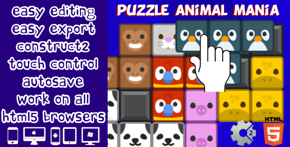 Puzzle Animal Mania - CodeCanyon Item for Sale