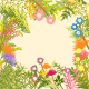 Springtime Colorful Flower Garden Party Background - GraphicRiver Item for Sale