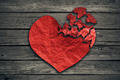 Broken heart breakup concept separation and divorce icon - PhotoDune Item for Sale