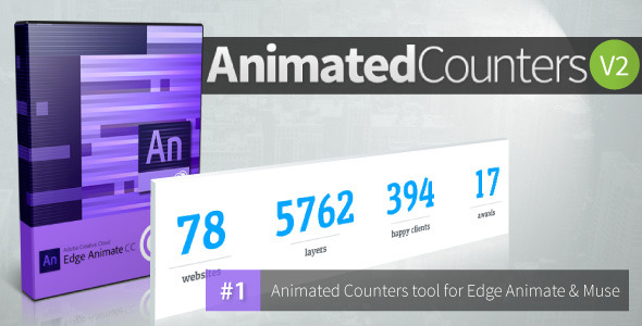 Animated Counters V 2.0 - Edge Animate Collection - CodeCanyon Item for Sale