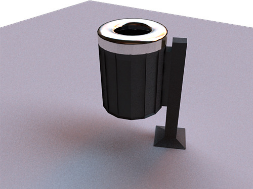 garbage can - vray for maya - 3DOcean Item for Sale