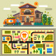 Courier Delivers the Order. Food to Your Home - GraphicRiver Item for Sale