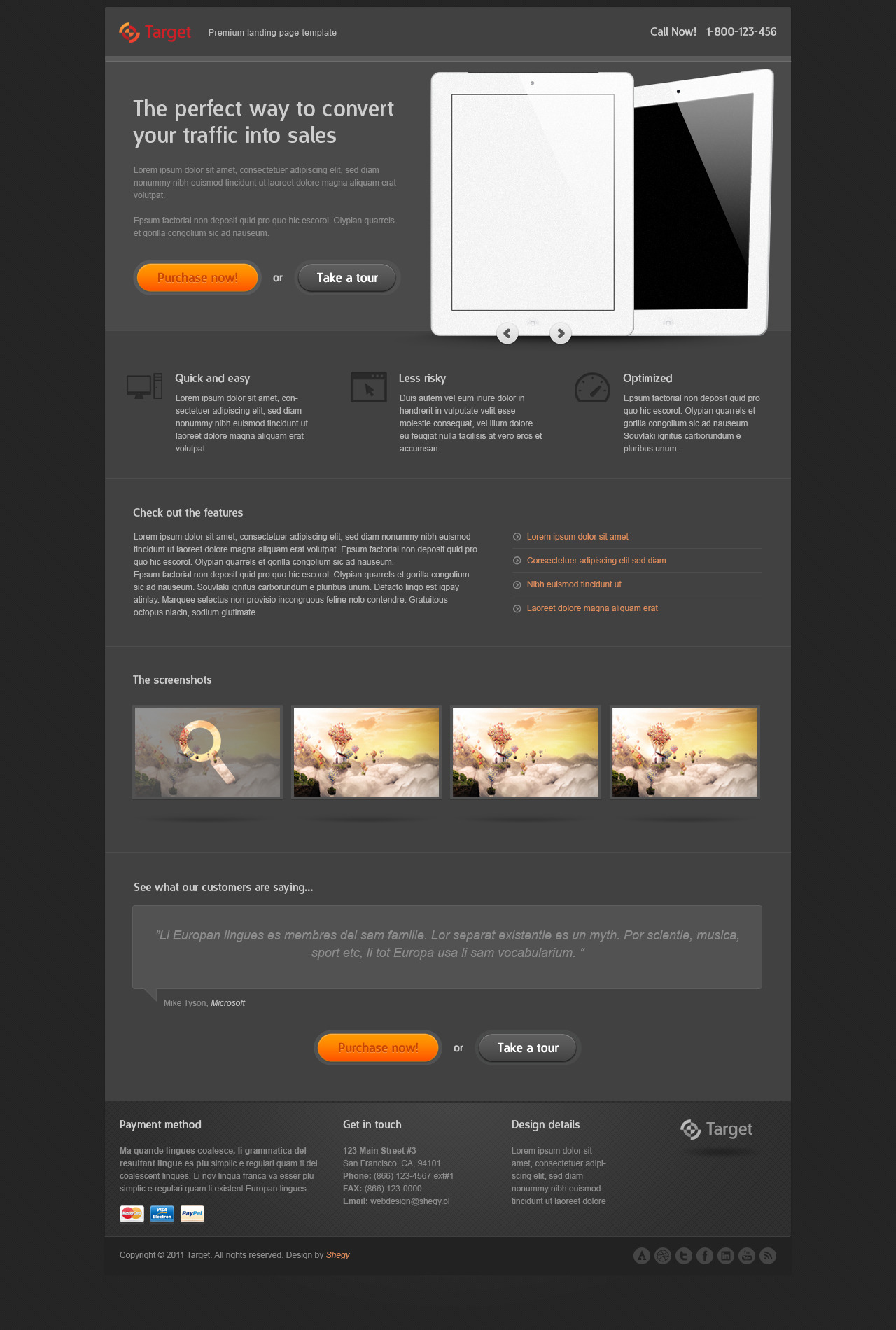Target - Premium Landing page template by Shegy   ThemeForest