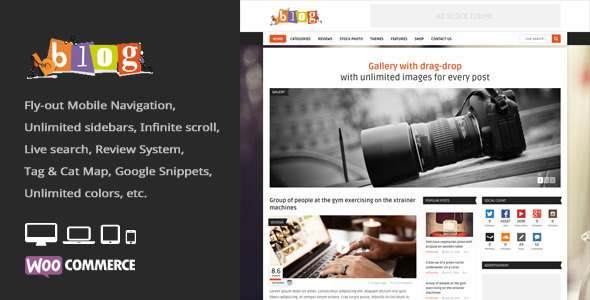 Bblog – Blog / Magazine WordPress Theme