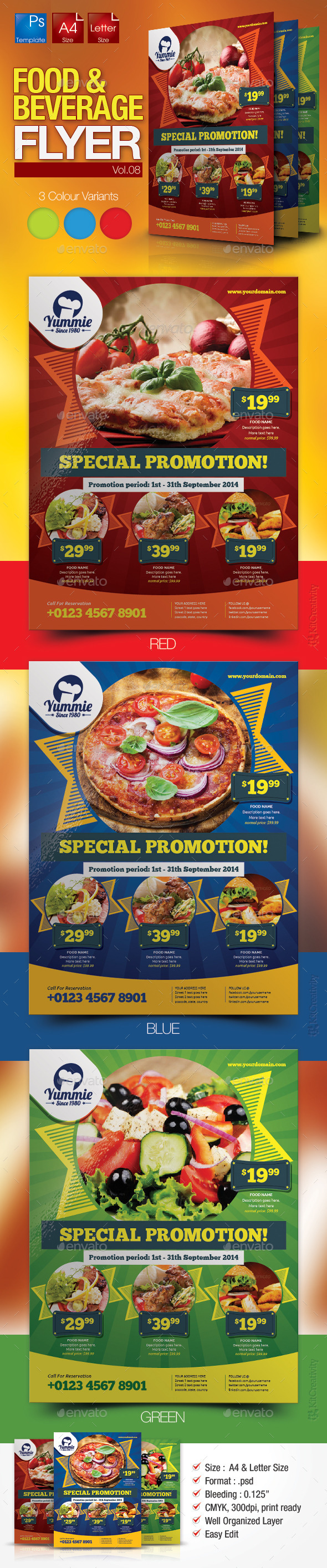 Restaurant Flyer Vol.8 - Restaurant Flyers