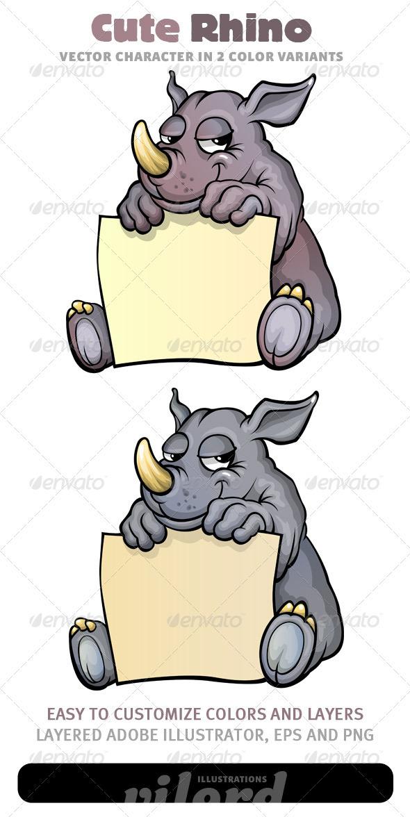 Rhino Mascot - Animals Characters