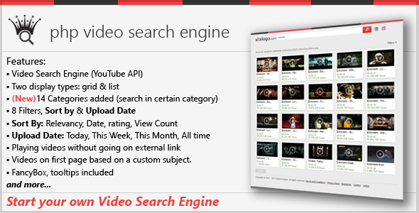 PHP Video Search Engine - CodeCanyon Item for Sale