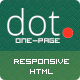 DOT - Creative One Page HTML Template Nulled