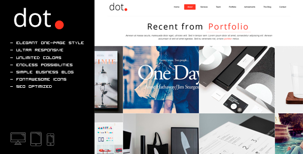 DOT – Creative One Page HTML Template