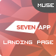 SevenApp - App Landing Page Muse Templates Nulled