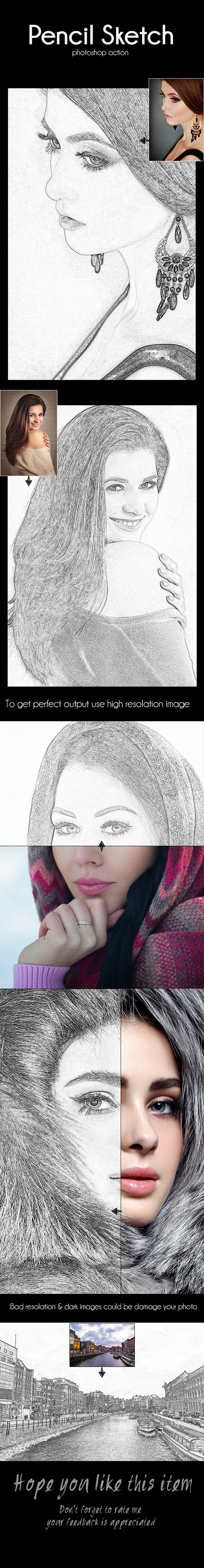 Pencil Sketch - Photo Effects Actions