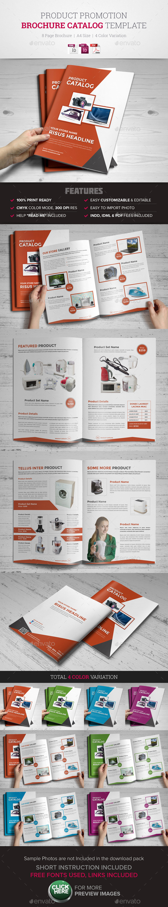 Product Promotion Catalog InDesign Template - Catalogs Brochures