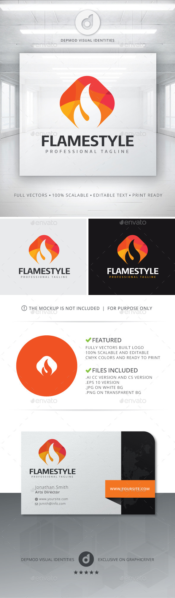 Flame Style Logo