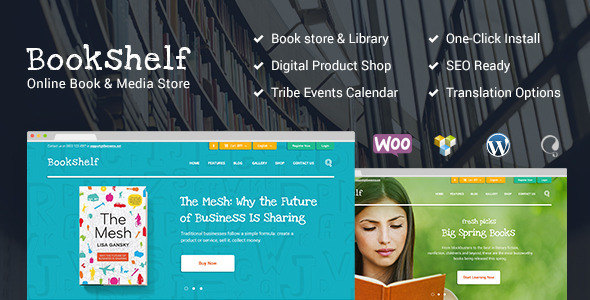 Bookshelf | Books & Media Online Store - WooCommerce eCommerce
