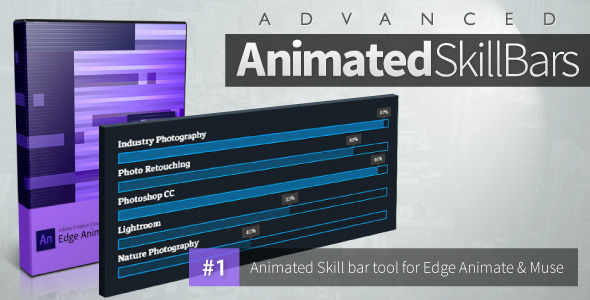 Advanced Animated Skill Bars - Edge Animate - CodeCanyon Item for Sale