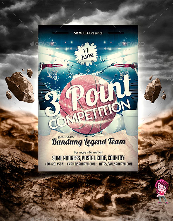 3 Point Competition Flyer Template by SRahayu – Competition Flyer Template