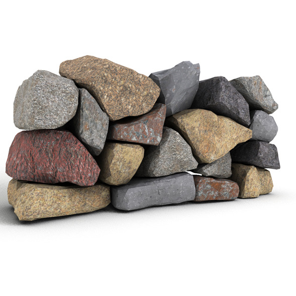Stone Wall 1 - 3DOcean Item for Sale