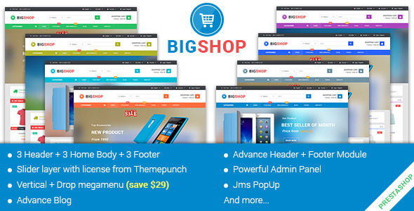 JMS Bigshop - Multipurpose Prestashop Theme