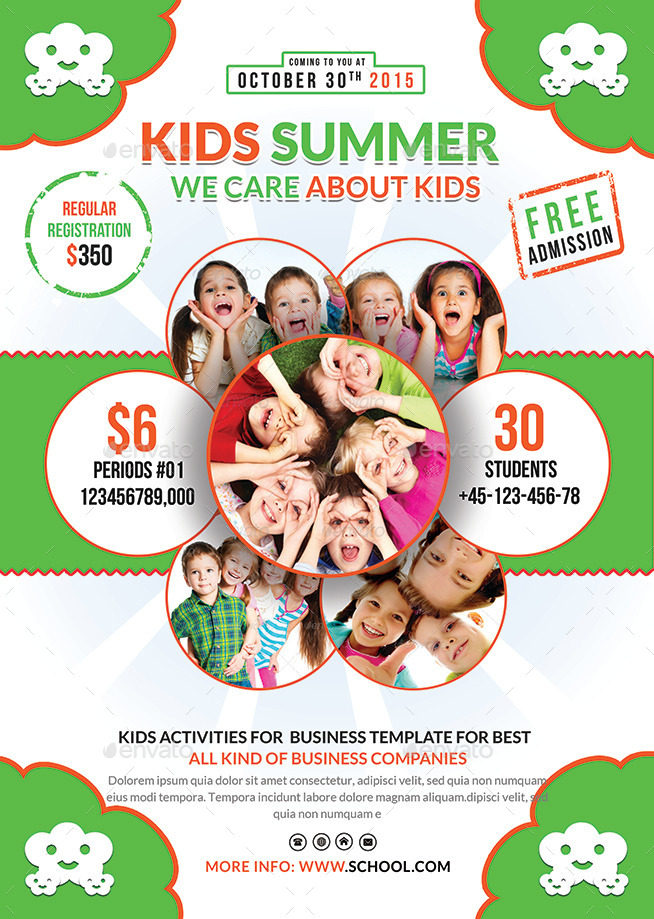 Kids Summer Camp Flyers Bundle By Afjamaal | Graphicriver