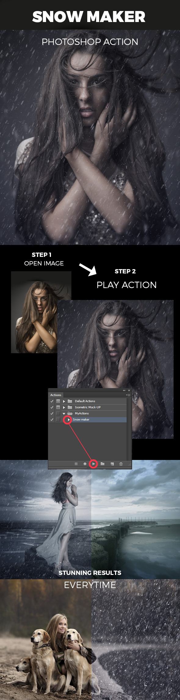 Snow Maker Photoshop Action - Photo Effects Actions