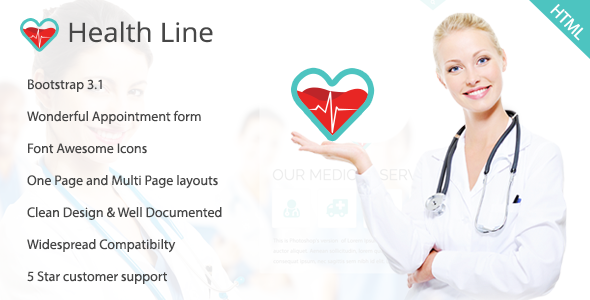 Health Line – Medic HTML Template