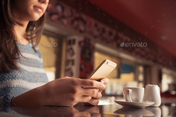 Woman at the bar - Stock Photo - Images