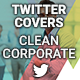 Twitter Profile Covers - Clean Corporate