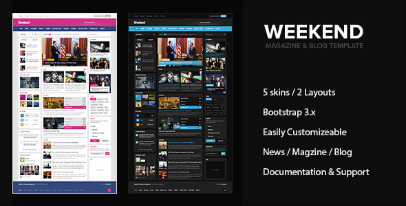 Weekend – Magazine & Blog HTML Responsive Template