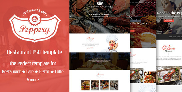 Peppery – Food & Restaurant PSD Template