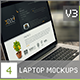 4 Laptop Screen Mockups v3 - GraphicRiver Item for Sale