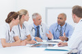 Team of doctors having a meeting in medical office - PhotoDune Item for Sale