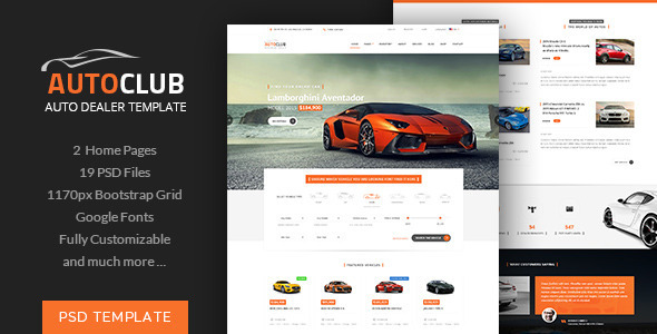 Auto Club – Car Dealer Theme