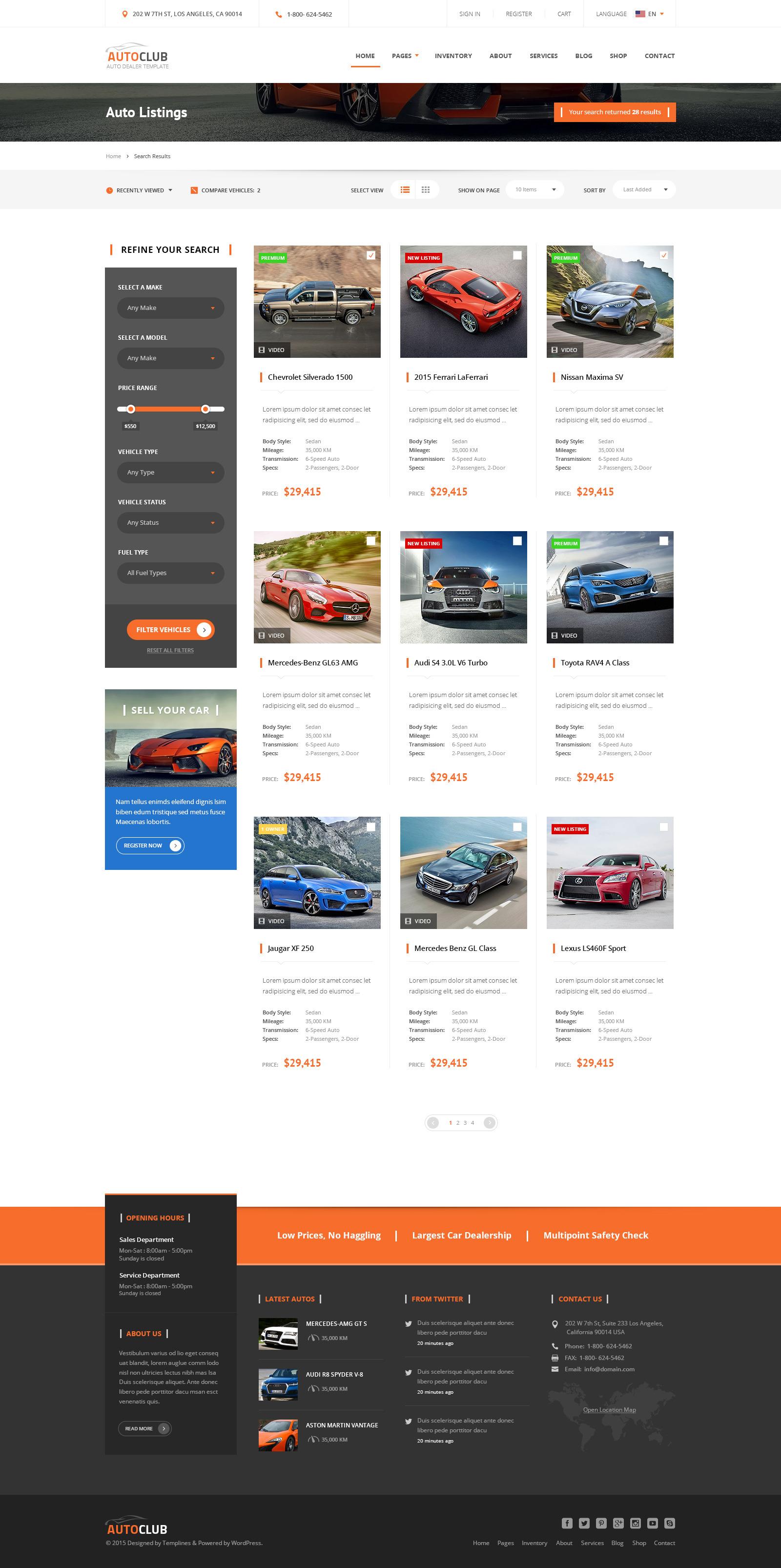 Auto Club - Car Dealer Theme by Templines | ThemeForest