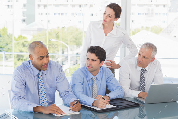 Business team during meeting in the office - Stock Photo - Images