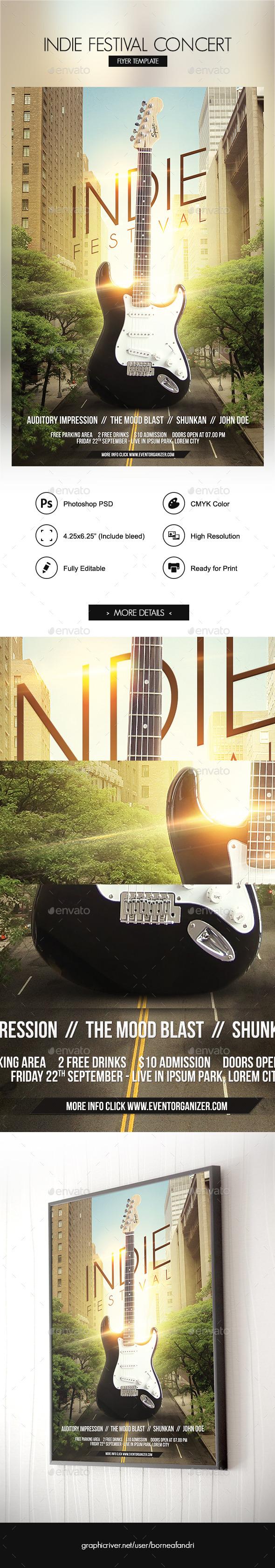 Indie Festival Concert Flyer - Concerts Events