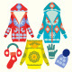 Collection of Winter Female Clothes and Accessories - GraphicRiver Item for Sale