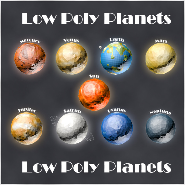 Low Poly Planets - 3DOcean Item for Sale