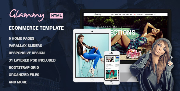Glammy - eCommerce HTML Premium Template - Retail Site Templates