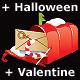 Season celebration mailbox SET - GraphicRiver Item for Sale