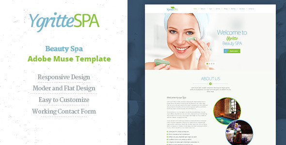 Ygritee Spa | Beauty Salon Muse Template - Corporate Muse Templates