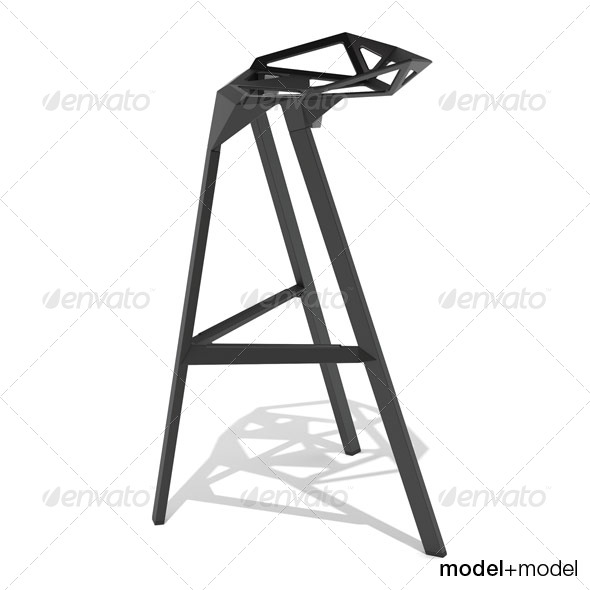 Magis Stool_One - 3DOcean Item for Sale