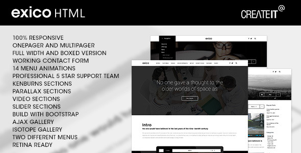 Exico - Corporate HTML Template - Business Corporate