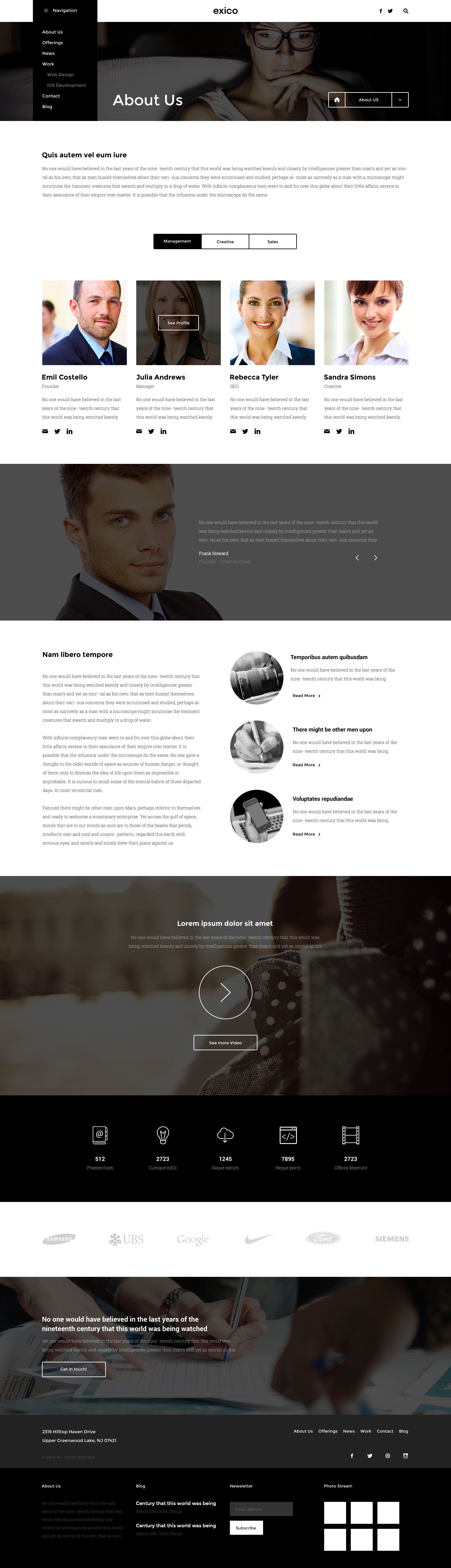 Exico - Corporate HTML Template by createit-pl | ThemeForest