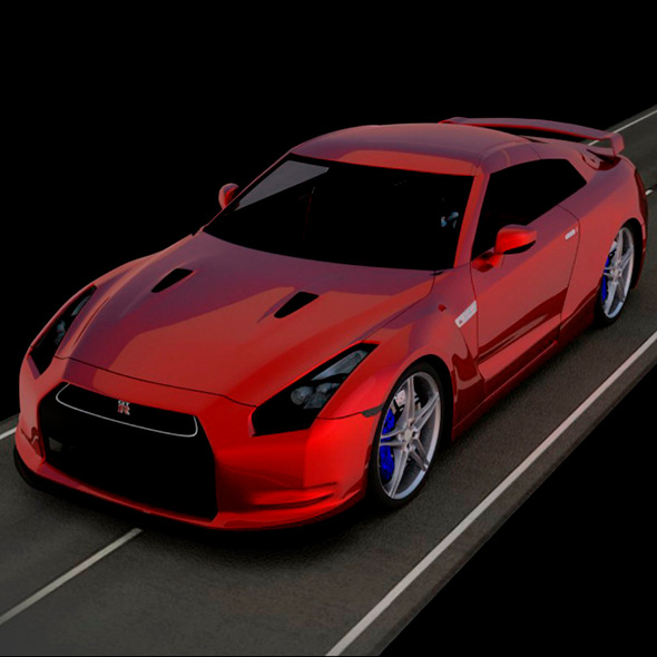 Nissan GT-R 3D Car Model - 3DOcean Item for Sale