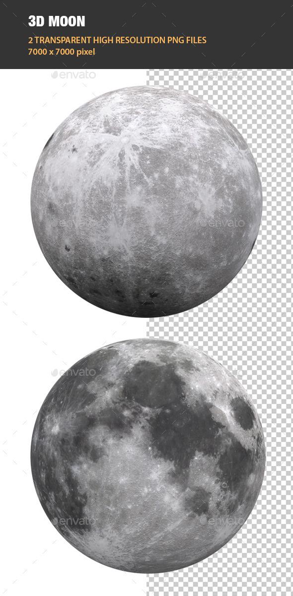 3D Moon - Objects 3D Renders