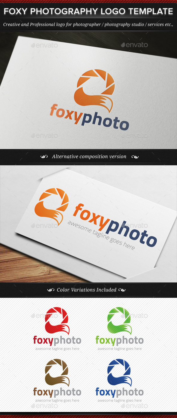 Foxy Photo Animal Photography Logo Template By Gbs Graphicriver
